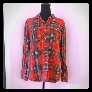 Mossimo Plaid Flannel Top